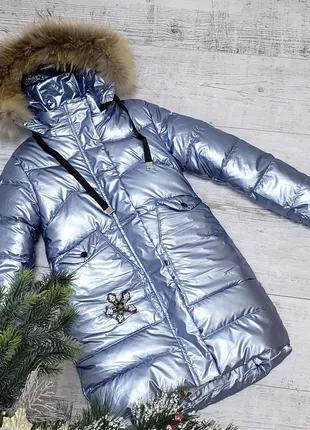 Размер 128-152 Зимняя куртка на 100% холлофайбере.Качество суппер