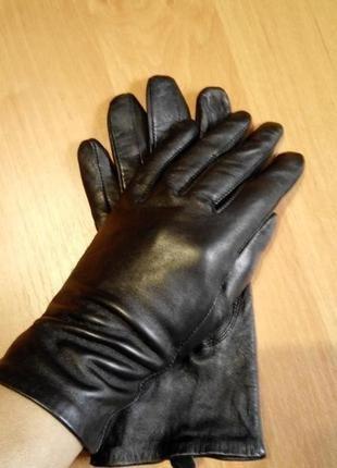 Кожаные перчатки осенние 100% кожа размер s-m