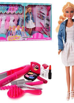 Кукла с нарядом DEFA 8426 BF 29 см, платья, обувь, сумочки, расче