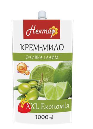 """Жидкое крем-мыло """"Нектар. Оливка и лайм"""" 1000мл"""
