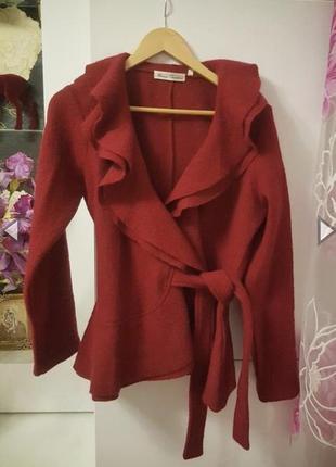 Новое пальто куртка натуральная шерсть 100%
