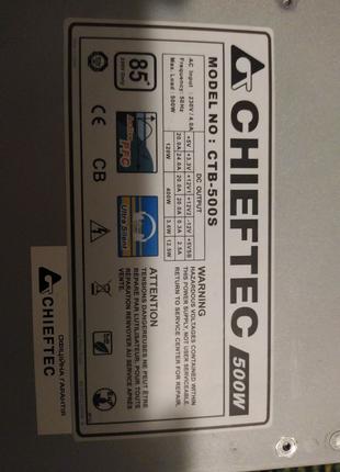 Блок питания Chieftec ctb-500S 500w