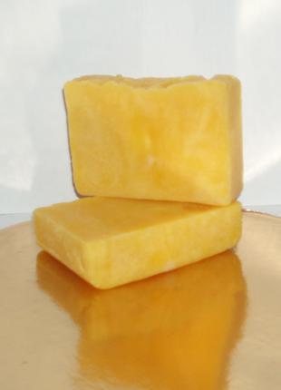 Handmade облепиховое мыло c нуля , никакой мыльной основы