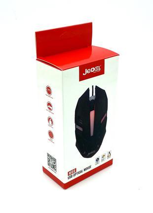 Компьютерная проводная мышь JEDEL M66 Black 1000 DPI