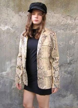 Куртка френч кожа кожаная питон