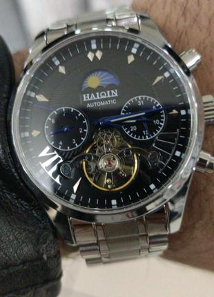 Брендовые мужские механические часы HAIQIN / Чоловічий наручний г