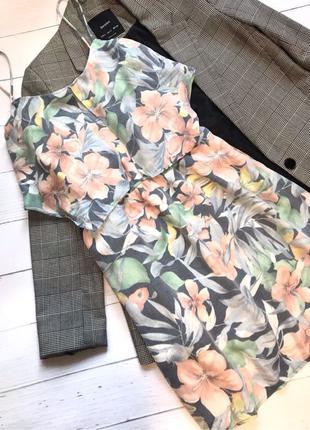лёгкое платье сарафан летнее в цветочный принт