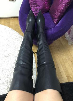 Новые натуральные кожаные ботфорты buffalo размер 40(25,8 см)к...