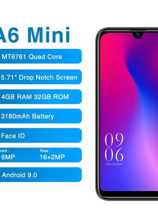 Смартфон Elephone A6 Mini, синій колір