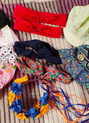 Косынки,панамка, повязки детские