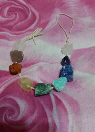 Новый набор 9 чакр натуральные камни розовый кварц аметист цитрин