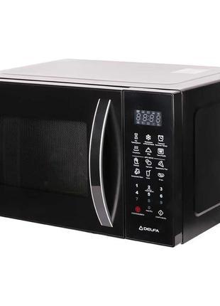 Микроволновая печь Delfa, МИКРОВОЛКОВКА, черная, на 23 л, 1000Вт