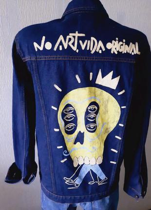 Джинсовая куртка ZARA джинсовый пиджак из Германии