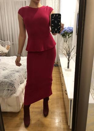 Платье макси фукция размер s