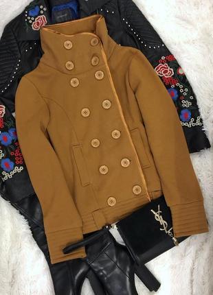 Коричневое пальто шерсть размер м