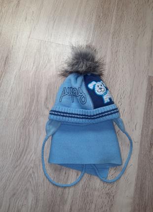 Зимний комплект шапка + шарф