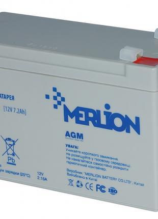 Аккумуляторная батарея MERLION AGM GP1272F2 12 V 7,2 Ah