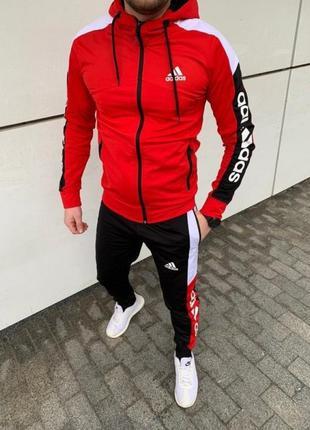 НОВЫЙ спортивный костюм Adidas 2021 мужской (красный)