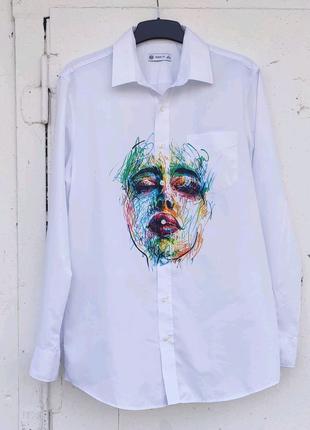 Сорочка чоловіча(рубашка) розписана в ручну