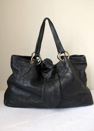 Шикарная большая  кожаная сумка blackstone