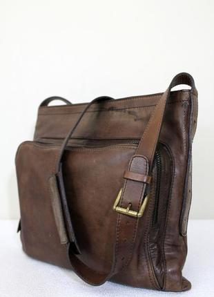 Мужская кожаная сумка massimo dutti