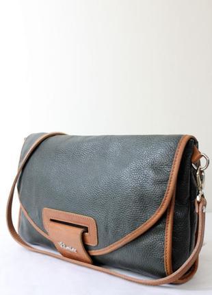 Valentina кожаная сумка кроссбоди made in italy