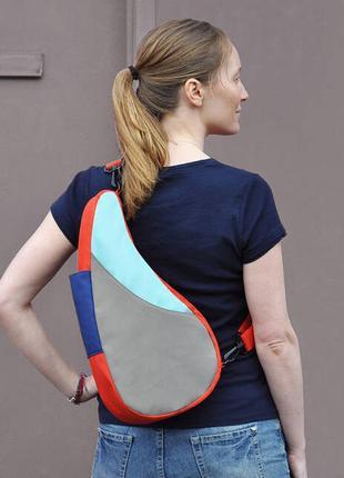 Двойная сумка- рюкзак на одно плечо healthy back bag.