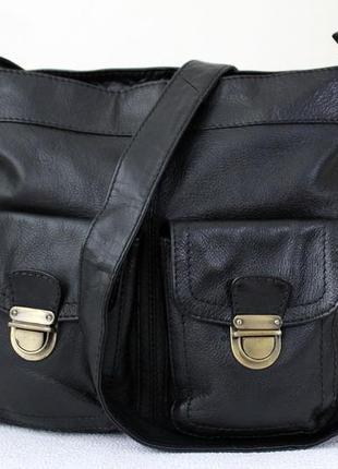 Практичная сумка  кроссбоди ,натуральная кожа.