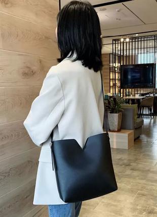 Весенняя сумочка через плечо в комплекте с кошельком