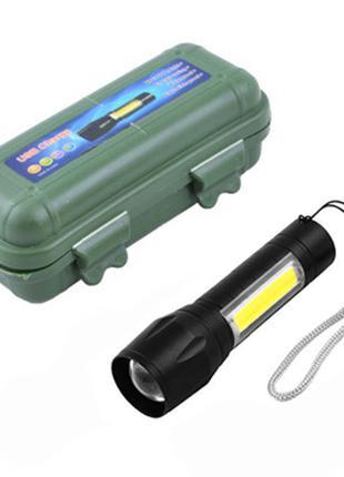Фонарик аккумуляторный BL511 Pro ZOOM с USB кабелем и футляром (ф