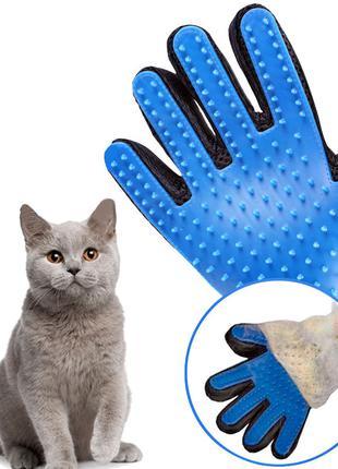 Массажная перчатка для кошек и собак True Touch для вычесывания ш