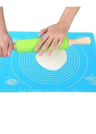 Силиконовый коврик для выпечки, раскатки теста, пиццы, печи 30 на