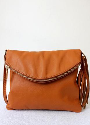 Италия. сумка кроссбоди genuine leather