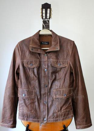 Женская  кожаная куртка david moore германия