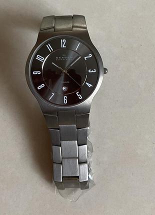Титановые кварцевые стильные мужские часы