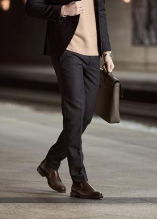 Мужские кожаные ботинки челси ecco