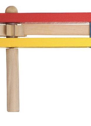 Кастаньета- трещотка руди деревянная игрушка музыкальная