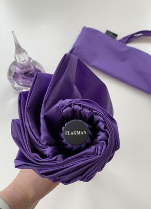 Однотонный, фиолетовый 💜 зонт, автомат с очень хорошими спицами!