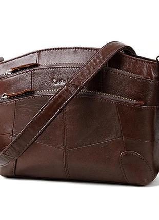 Сумка женская кожаная. сумочка из натуральной кожи (коричневая)