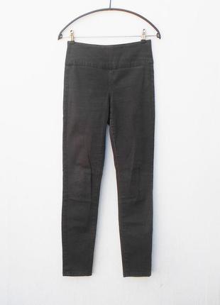 Коричневые джинсы скинни высокая талия