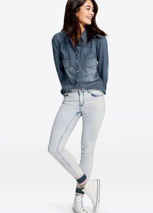 Стильная женская джинсовая рубашка esmara германия, коллекция ...