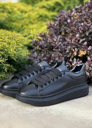 Кеды alexander mcqueen oversized sneakers all black  арт. 4717