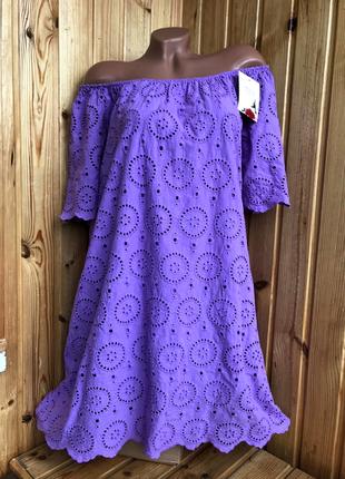 Платье-туника из прошвы италия