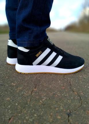 Мужские кроссовки adidas iniki черные