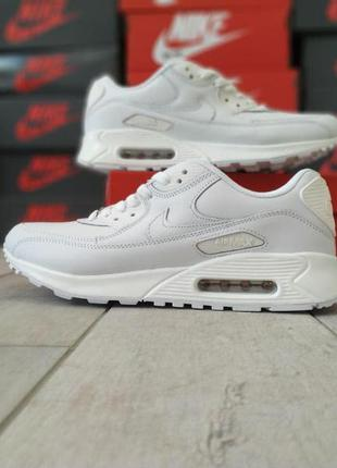 Мужские кроссовки nike air max 90 (белые)