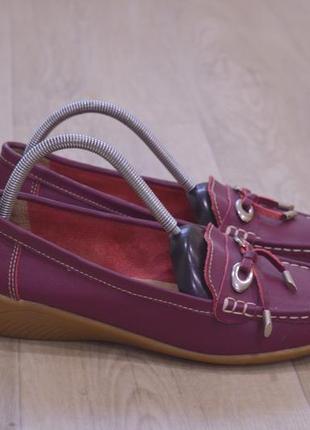 Dash женские туфли мокасины кожа оригинал