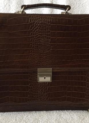 Мужской кожаный портфель cesar's новый