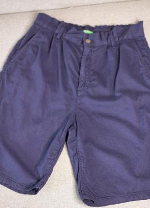 Синие женские шорты-бермуды united colors of benetton