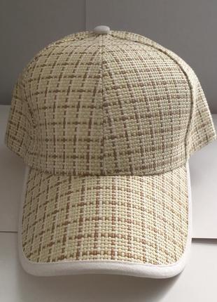 Стильная кепка эко-кепка соломенная плетеная. новая!