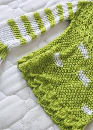Джемпер топ очень красивый и нежный открытые плечи вязанный кр...